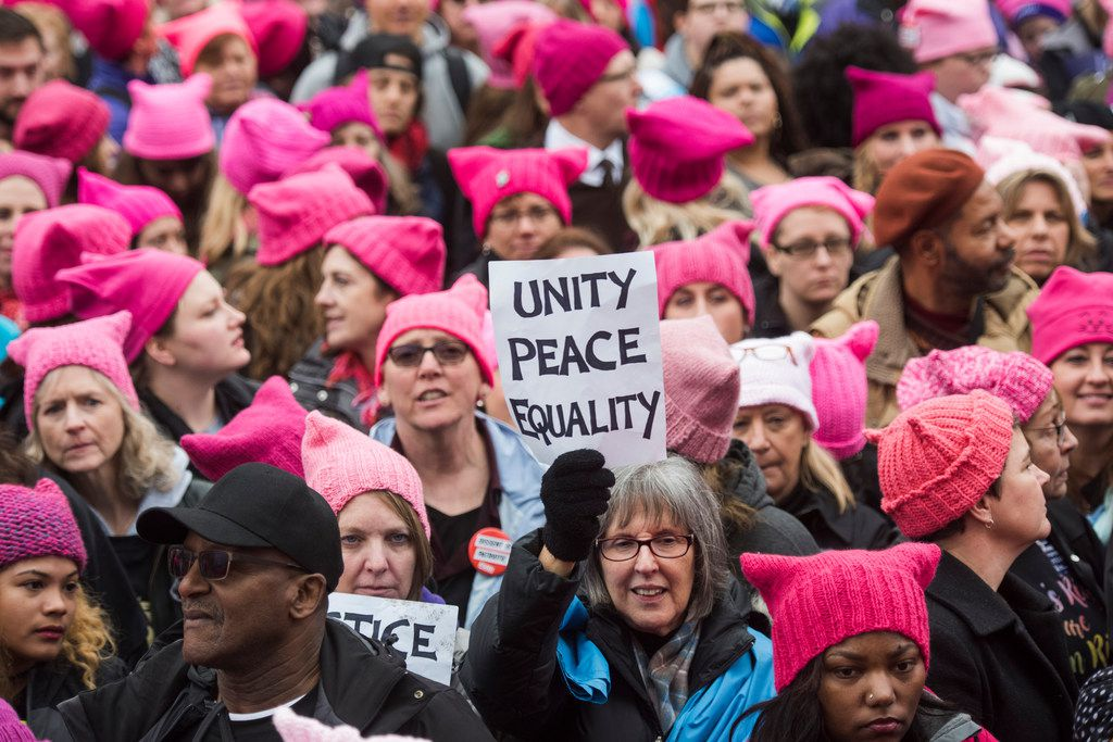 Groups gather for the Women's March on Washington on Saturday, Jan. 21, 2017 in Washington, D.C.