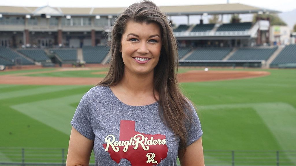 Melanie Newman used to work for the Frisco Rough Riders and now does play-by-play for the Salem Red Sox as part of the first all-female broadcast team in professional baseball.