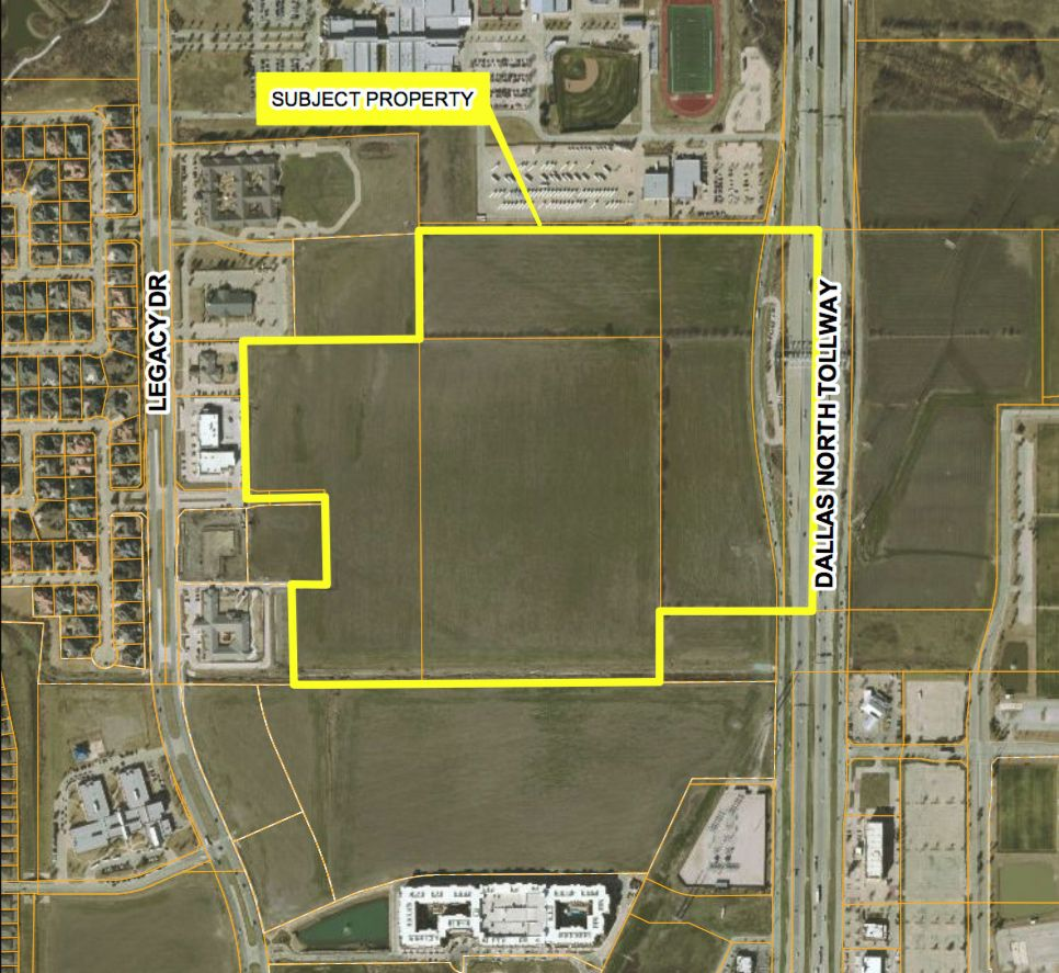 The Railhead site is just south of Frisco's Wakeland High School.