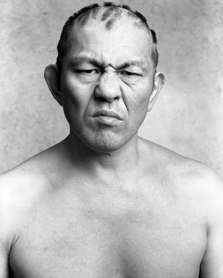 Professional wrestler and mixed martial artist Minoru Suzuki poses for a portrait by Michael Watson. The portrait appears in the new, glossy art magazine about wrestling culture, Orange Crush, a passion project edited by art adviser and fan Adam Abdalla.