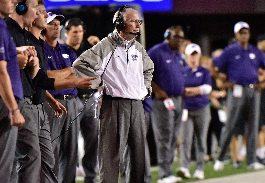 NASHVILLE, TN - SEPTEMBER 16:  Head coach Bill Snyder of the Kansas State Wildcats watches from the sideline during the second half of a 14-7 loss to  Vanderbilt at Vanderbilt Stadium on September 16, 2017 in Nashville, Tennessee.  (Photo by Frederick Breedon/Getty Images)