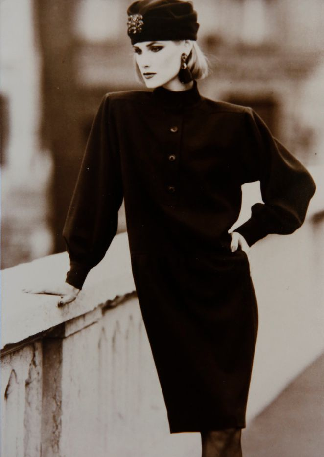 Jan Strimple modeling for Yves Saint Laurent in Paris in 1983. (Photo courtesy of Jan Strimple)