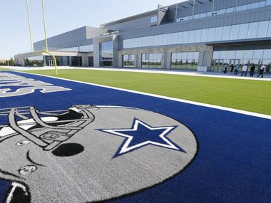 Pictured above is one of the two practice fields with the multi-use indoor facility in the background at the Dallas Cowboys new headquarters at The Star in Frisco on Sunday, August 21, 2016. (Vernon Bryant/The Dallas Morning News)
