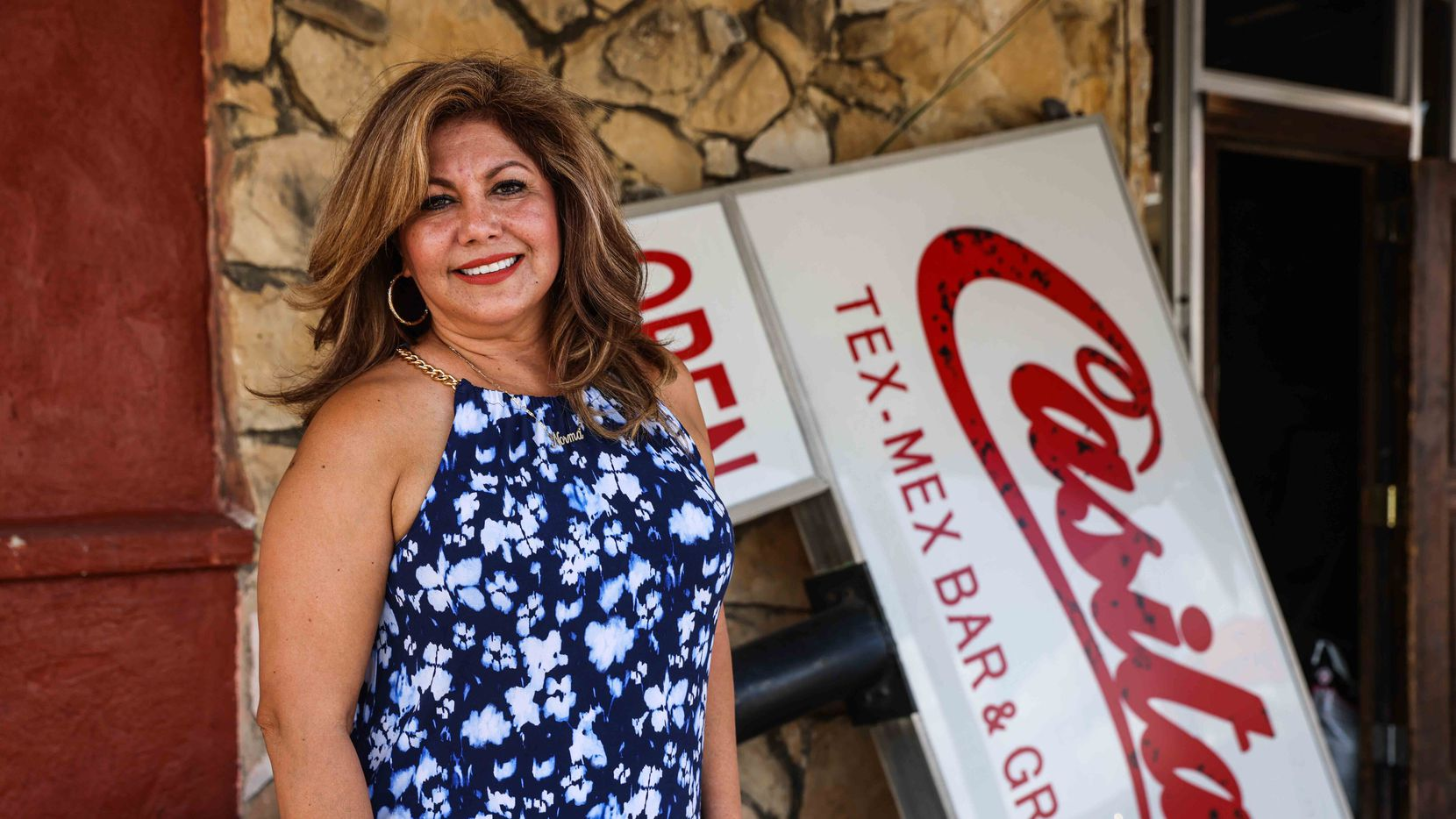 Norma Valles, Casita Tex-Mex owner, poses at her restaurant in Dallas.