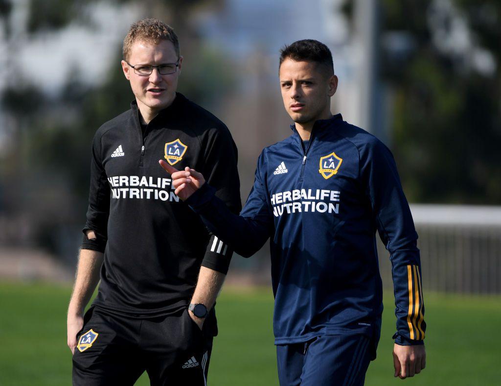 """Javier """"Chicharito"""" Hernández fue presentado con el LA Galaxy en enero."""