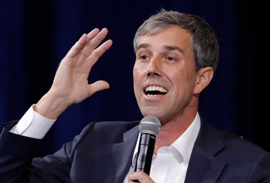 Democratic presidential candidate and former Texas Rep. Beto O'Rourke speaks during a gun safety forum in Las Vegas.