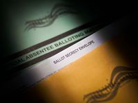 Mail-in absentee ballot materials photographed at the Dallas County Elections Department on Monday, May 18, 2020, in Dallas.