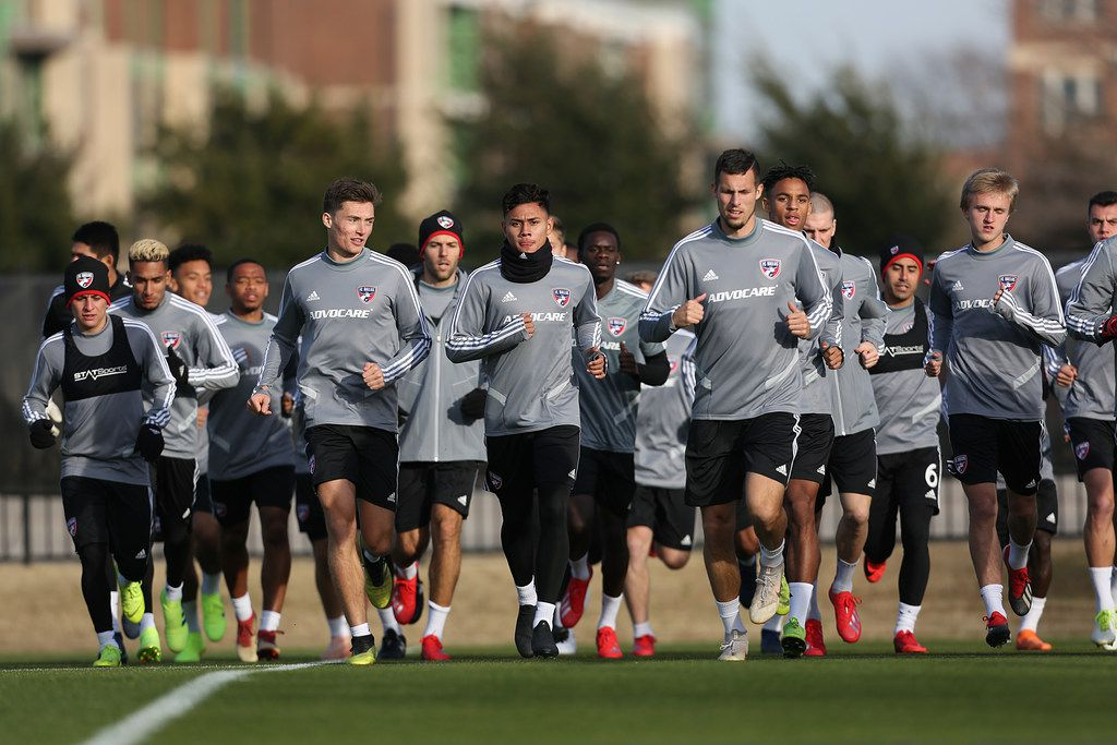 FRISCO, TX - January 21: FC Dallas Team during the first traning session prior to the MLS regular  season 2019 at Toyota Stadium on January 21, 2019 in Frisco, Texas. (Photo by Omar Vega/ AL DIA Dallas)
