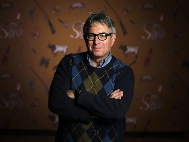 """In """"The Perilous Texas Adventures of Mark Dion"""" at the Amon Carter Museum in Fort Worth, the conceptual artist offers unique ways to look at the Texas landscape. Dion created the Texas-themed wallpaper covering the exhibit walls."""