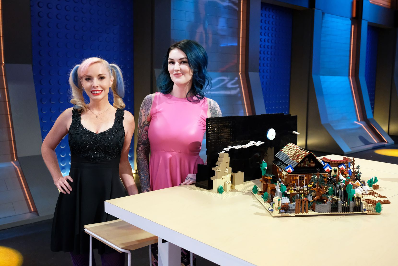 Krystle Starr (left) and Amie Dansby became friends through their mutual affection for Legos and the character costume-play artform of cosplay.