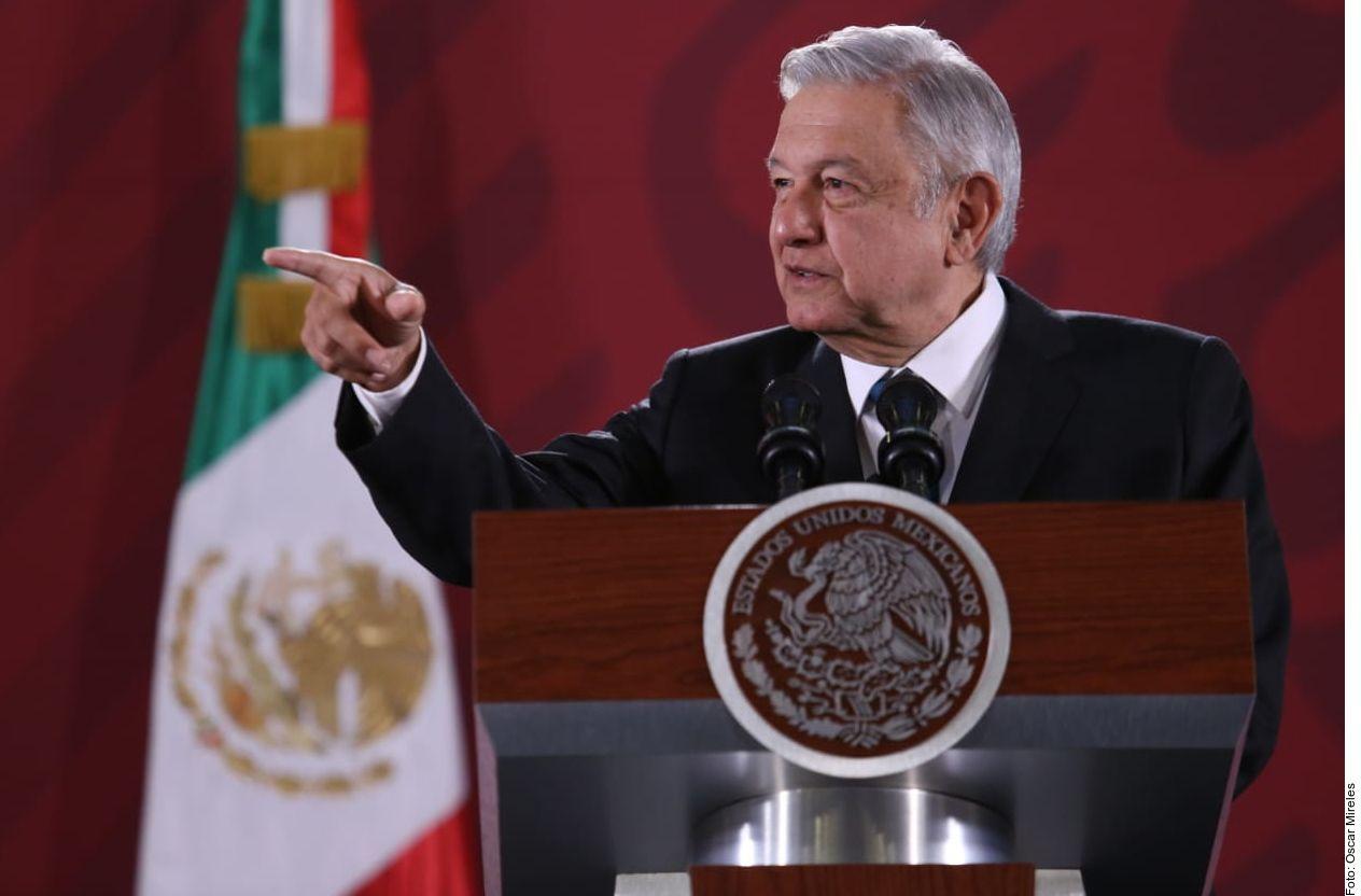El presidente Andrés Manuel López Obrador durante la conferencia de prensa del 5 de noviembre
