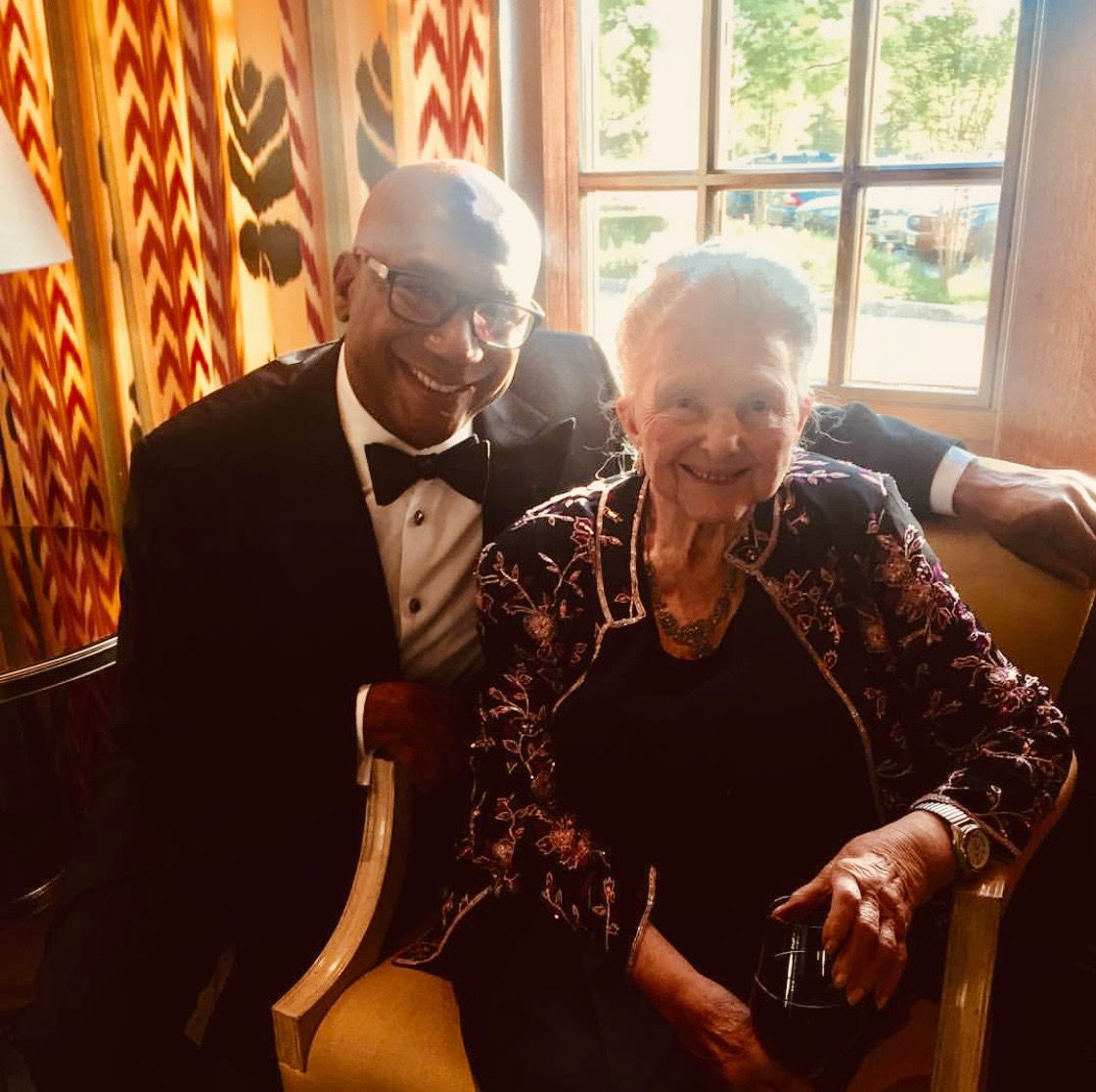 Terry D. Loftis, the executive director of The Arts Community Alliance, or TACA, with the late Caroline Rose Hunt, a Dallas philanthropist who became a mentor and close friend to Loftis.