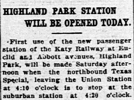 Highland Park Station archives