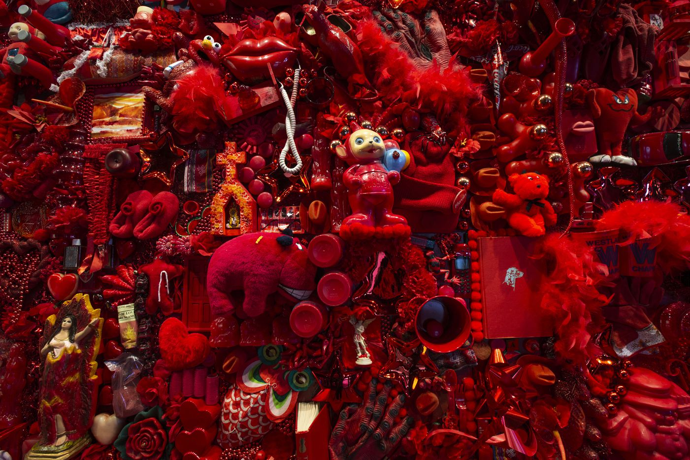 """""""Red Project,"""" by Linda Pace herself, is on display at the Ruby City contemporary art center."""
