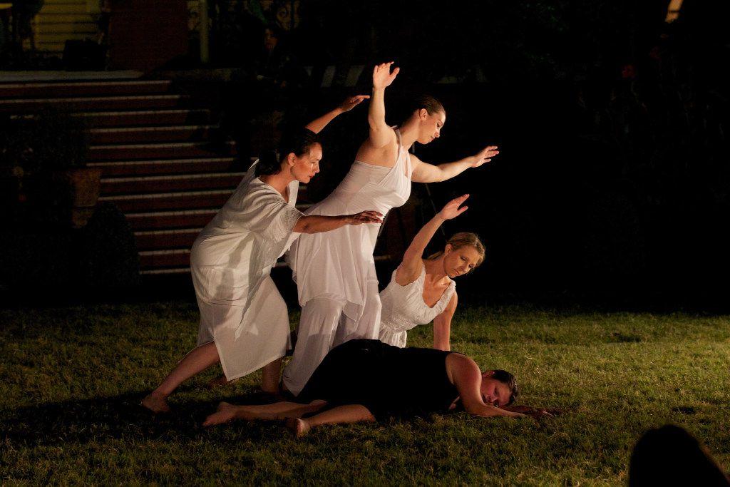 Elledanceworks artistic director Michele Hanlon, left, with dancers Melissa Bjork, Shelley Padilla and Tiffanee Arnold in 2011.