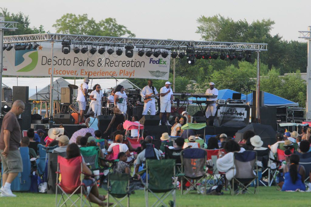A live performance is pictured during a previous DeSoto celebration of Juneteenth in this file photo.