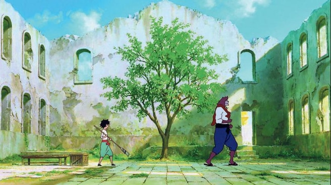 'The Boy and the Beast' tells the story of a boy who finds a magical pathway between two worlds.