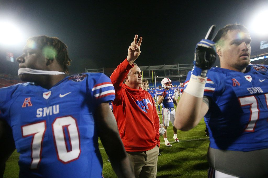 New Southern Methodist Mustangs head coach Sonny Dykes after losing the NCAA 2017 DXL Frisco Bowl between the Louisiana Tech Bulldogs and the SMU Mustangs at Toyota Stadium in Frisco, Texas Wednesday December 20, 2017. Louisiana Tech Bulldogs won 51-10. (Andy Jacobsohn/The Dallas Morning News)