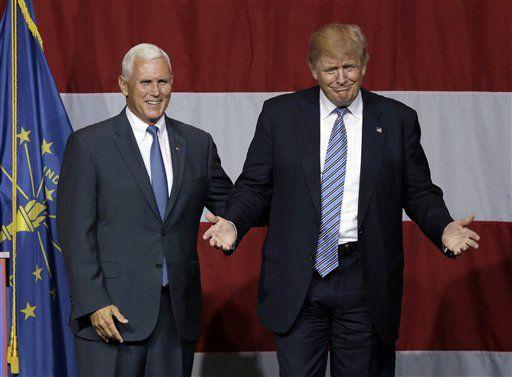 Donald Trump y el  gobernnador  de Indiana Mike Pence./AP