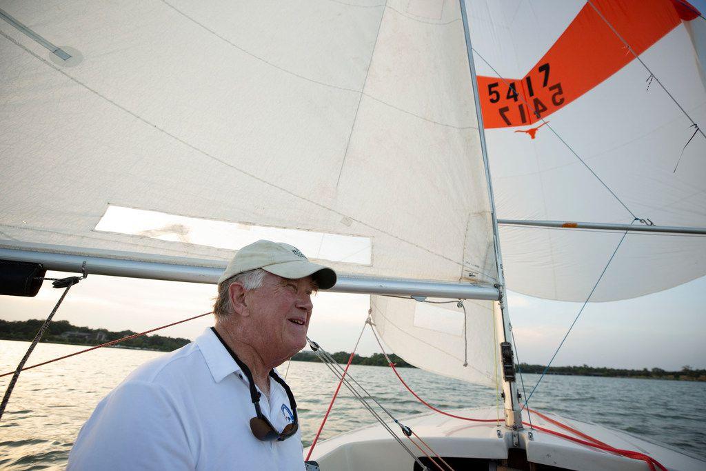 "Ralph ""Red Dog"" Jones sails White Rock Lake on Thursday, August 29, 2019."