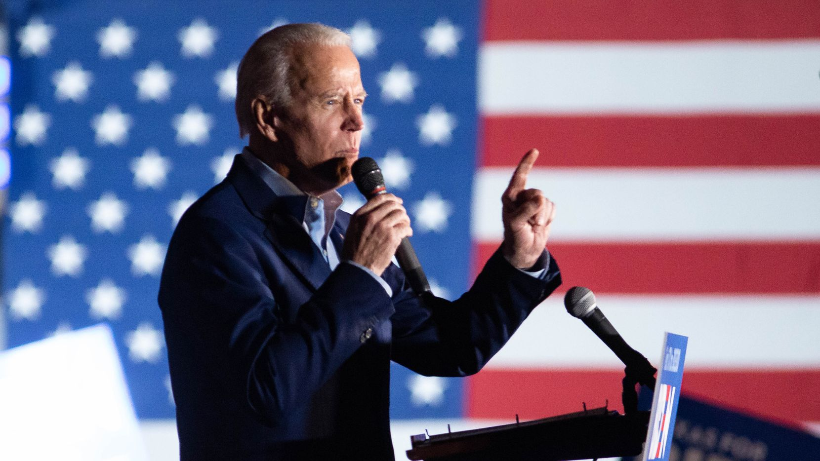 Democratic presidential candidate Joe Biden spoke during a rally at Gilley's in Dallas on March 2. Biden received endorsements in Dallas that day from Pete Buttigieg, Amy Klobuchar and Beto O'Rourke.