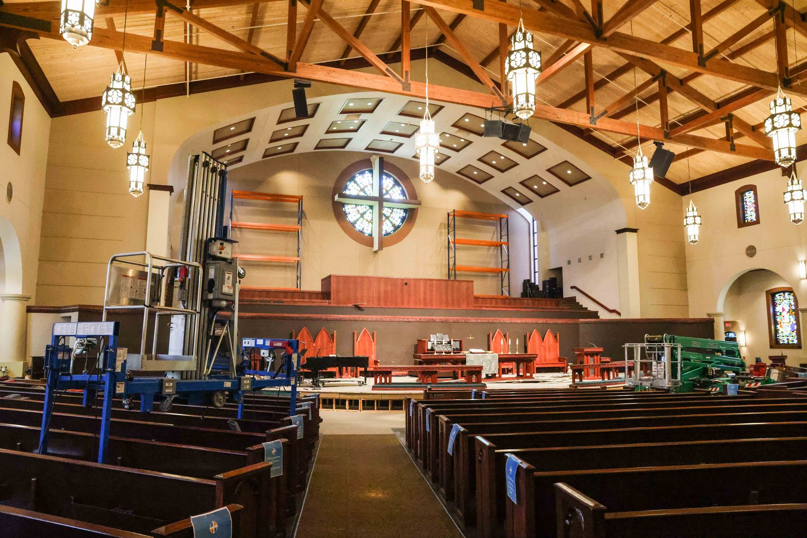 First United Methodist Church flooded in February after a pipe burst during the winter storm, and members have been using an alternate location for services since then. The church is having outdoor services at The Sound at Cypress Waters to celebrate Easter in Coppell.