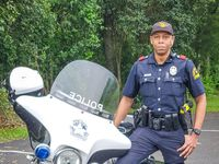 Dallas Police Department Officer Johnny Walker. He is the first DPD officer to recover from COVID-19 and returned to work on Wednesday, April 8, 2020.