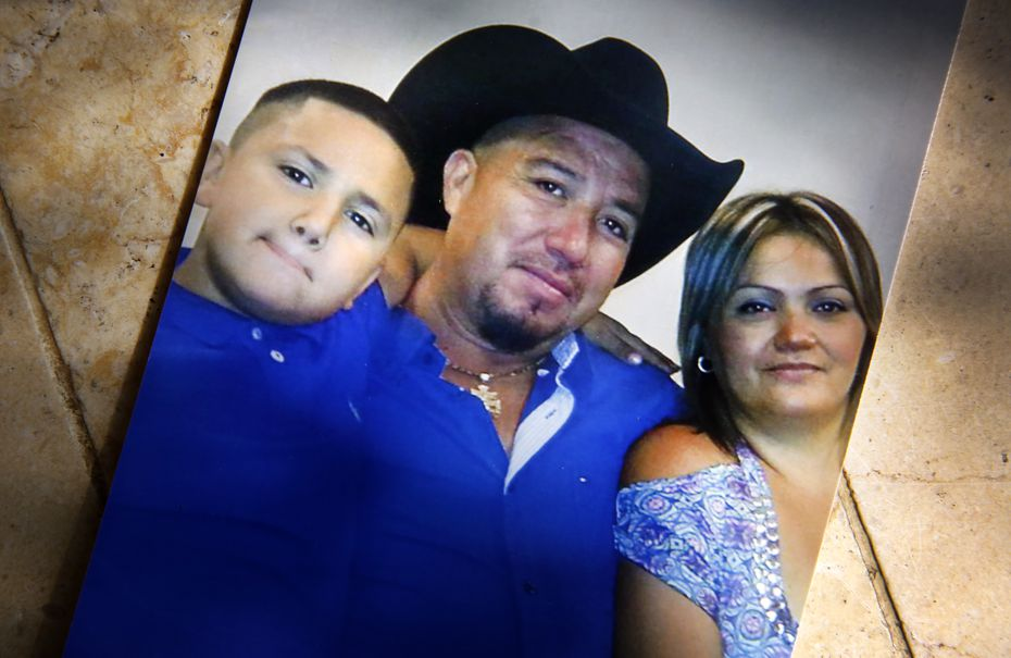 In an undated photo, 14 year-old John Zuniga (left) is picture with his parents Osvaldo and Graciela Zuniga. John was killed over the summer during a drug deal involving $55 of marijuana. A grand jury recently declined to indict 2 out of 3 suspects in the case. (Tom Fox/The Dallas Morning News)