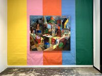 """""""Collective Making,"""" an oil-on-canvas painting, is among the works on display in the """"COLLECTIVE"""" exhibition at SMU's Pollock Gallery."""