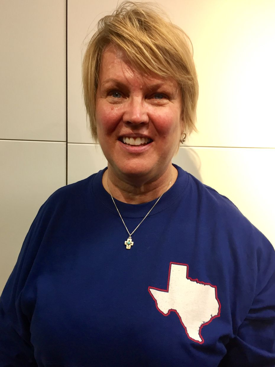 Kathleen Blakely of Boerne drove two days with her husband to see Donald Trump's inauguration. (Katie Leslie/Staff)