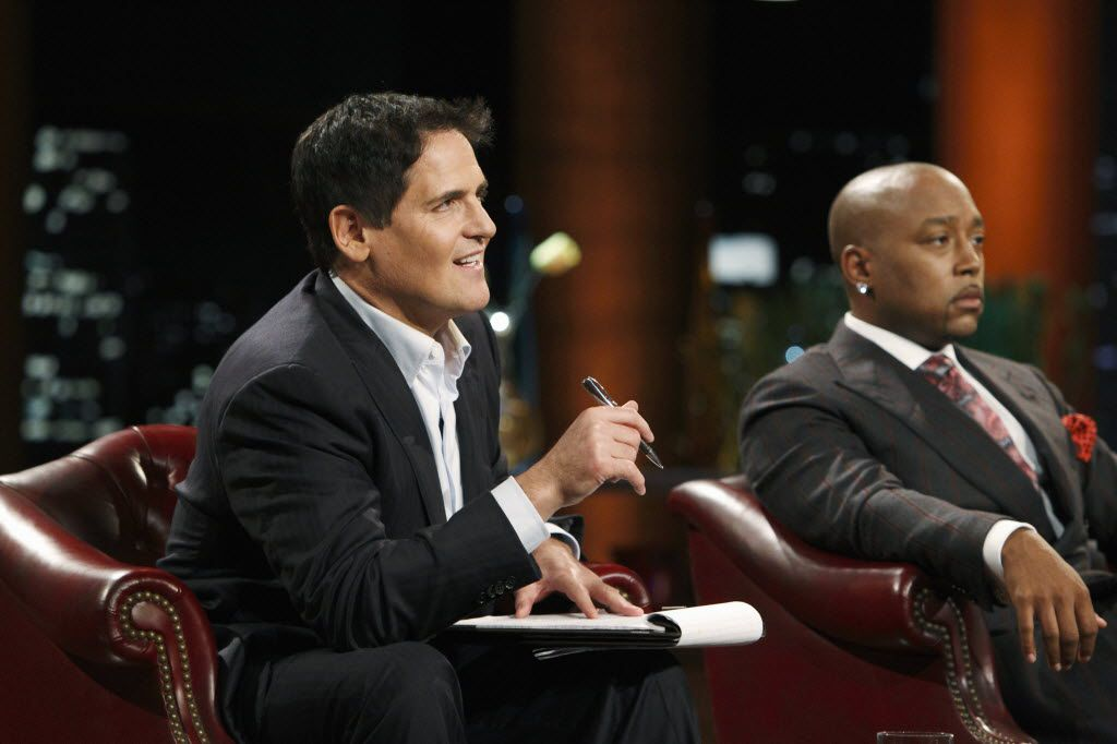 """Mark Cuban, left, on an episode of """"Shark Tank"""" in an undated handout photo. The show is one of two shows networks are betting on based the premise of entrepreneurs competing for seed money."""