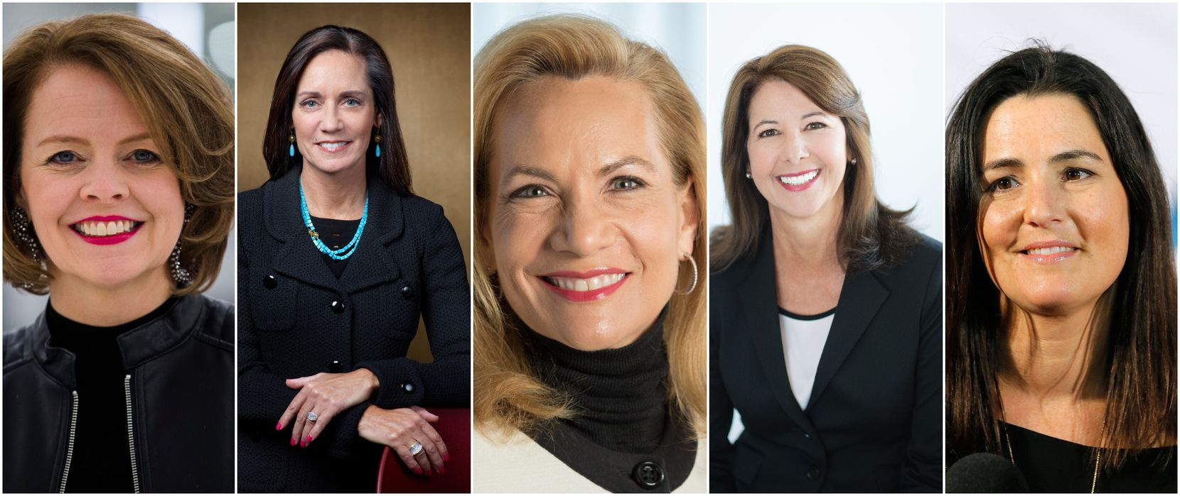 Five women made this year's list of highest-paid CEOs at Dallas-Fort Worth public companies. From left: Jill Soltau, Barbara Smith, Lori Ryerkerk, Kimberly Lody and Mandy Ginsberg.