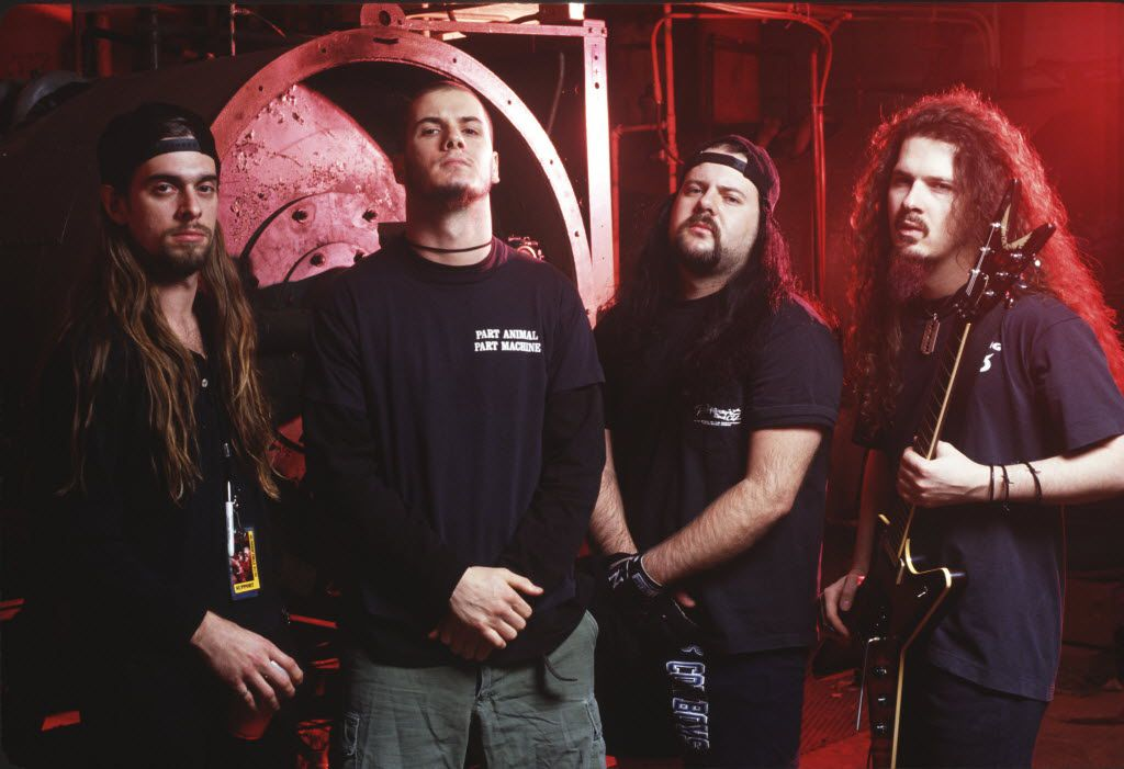 Arlington-formed metal band PANTERA circa 1992. From left: Rex Brown, Philip Anselmo, Vinnie Paul and Dimebag Darrell.