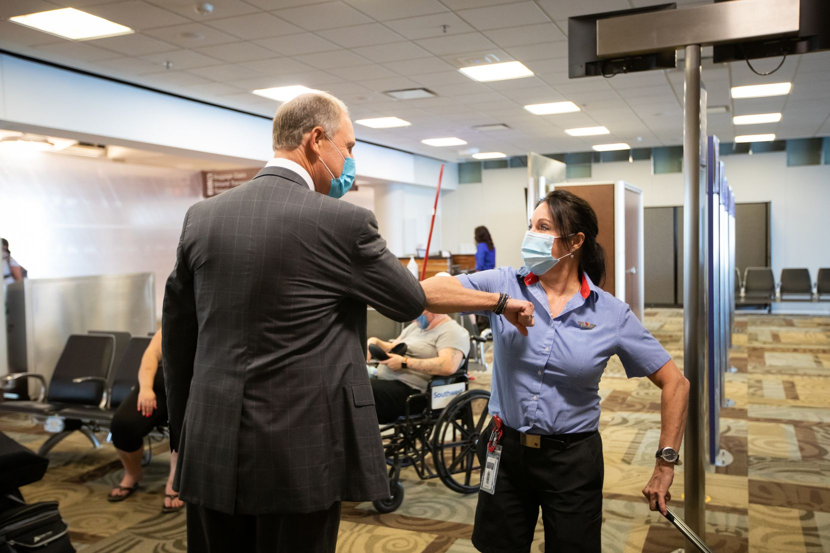 Southwest Airlines CEO Gary Kelly met with employees at Nashville International Airport in July 2020.
