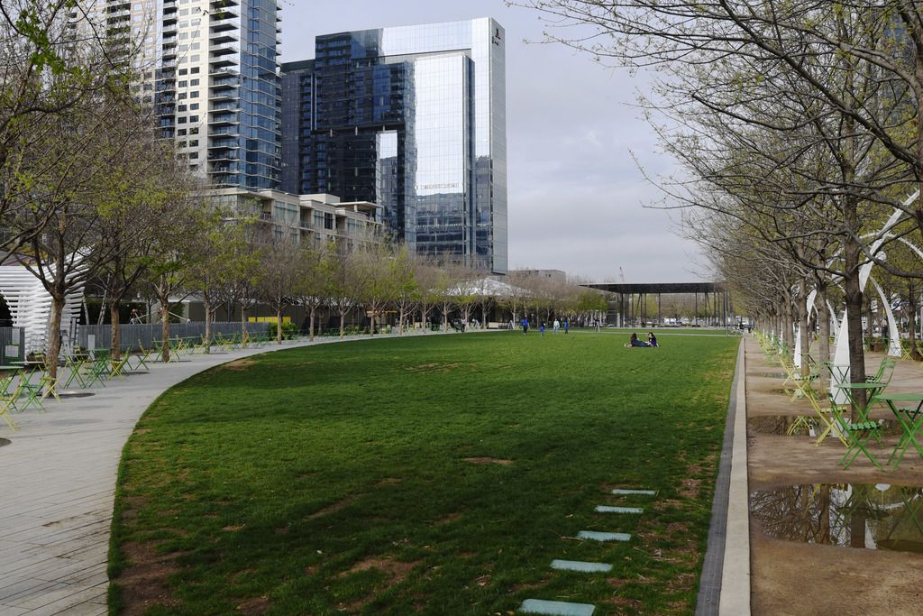Klyde Warren Park is one of Dallas' 397 parks. The city is closing all parks for the bust Easter Weekend.