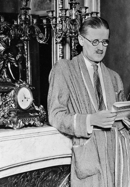 "James Joyce described himself as ""a man of small virtue, with a tendency to alcoholism."""