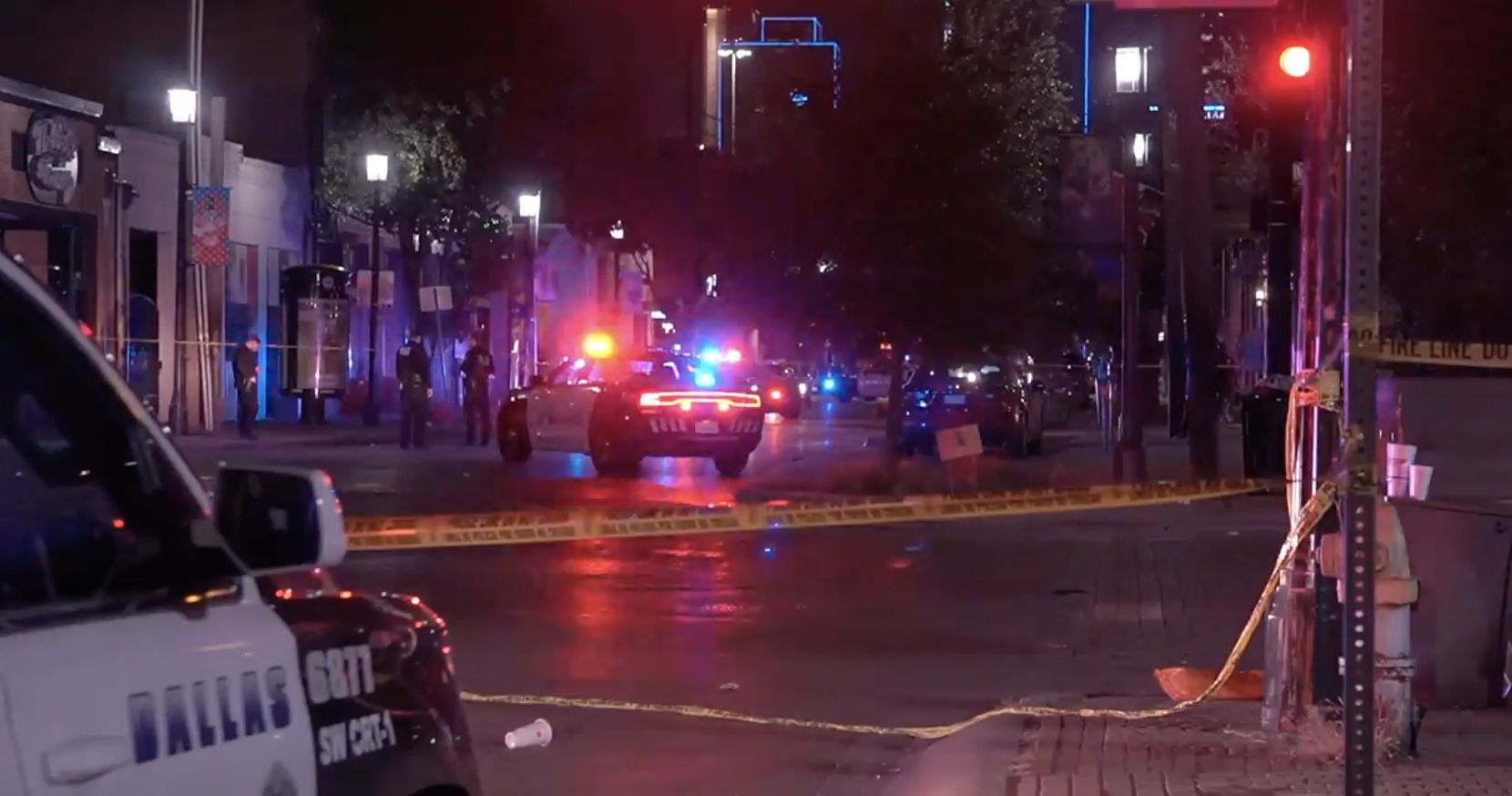 One person was killed and five others were injured, one critically, after a shooting early Sunday, September 19, 2021 in Deep Ellum, police said. One man was arrested but it s unclear if he is connected to the slaying and injuries.