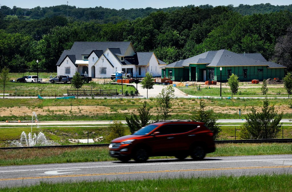 New homes are going up in former farm and and ranch land along U.S. Highway 377, which runs through the center of Argyle.