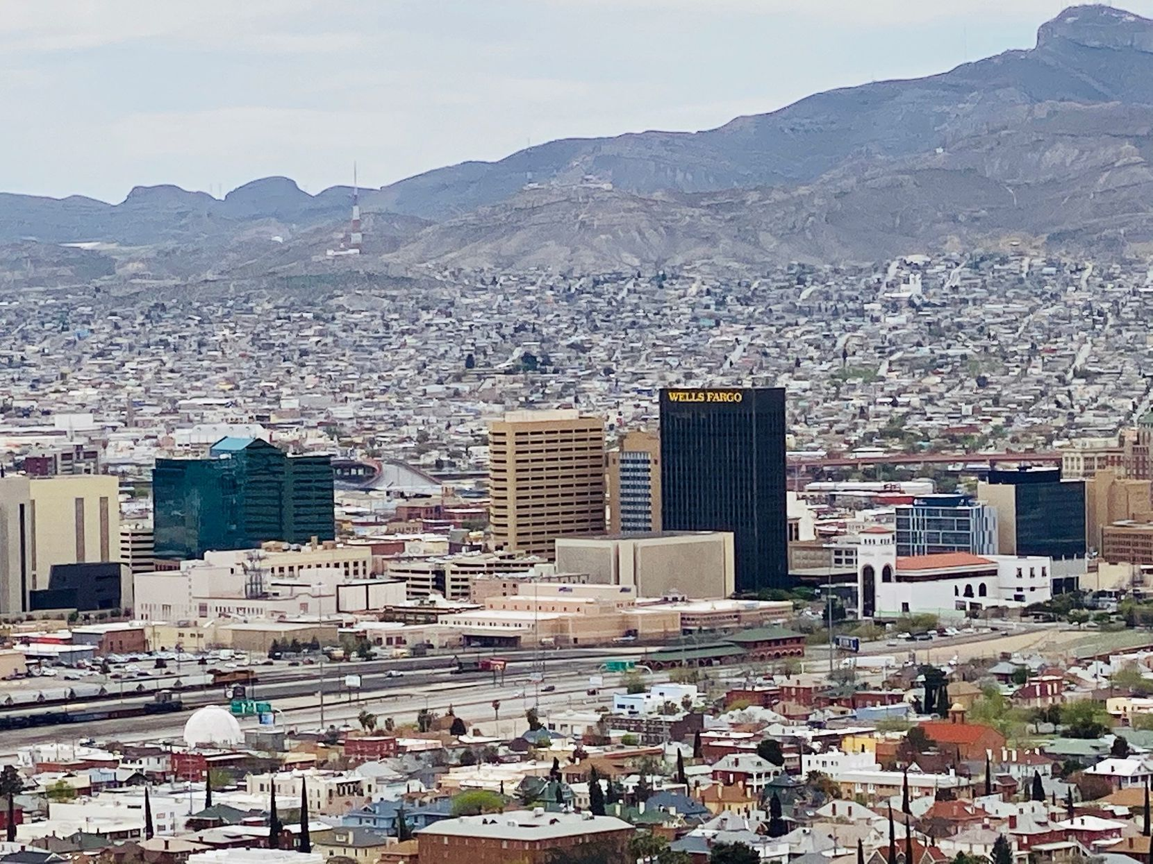 Downtown El Paso with Juarez in the background. How the cities deal with the threat of coronavirus is a tale of two cities.