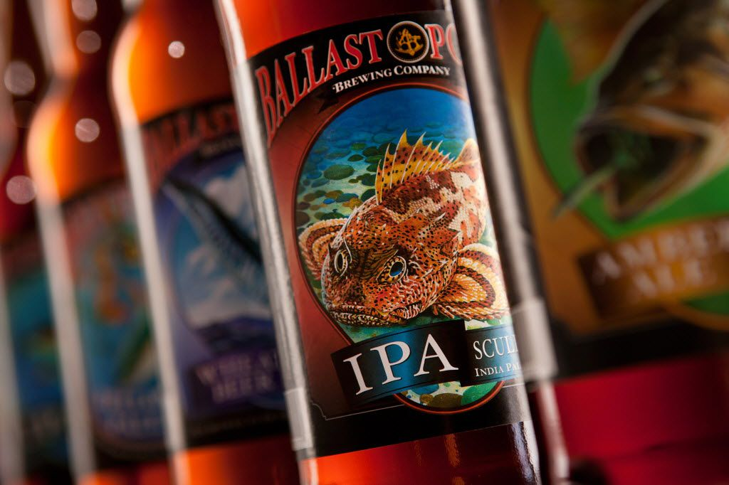 Ballast Point Sculpin IPA is named for the sculpin fish, which has poisonous spikes on its fins.