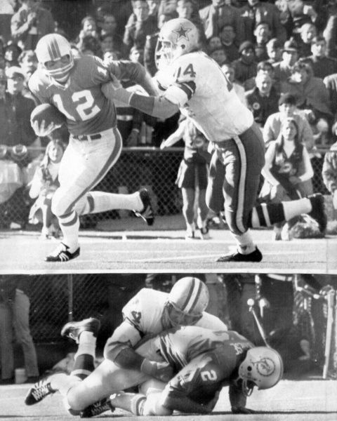 There are sacks and there are sacks. Miami quarterback Bob Griese kept retreating to escape a relentless Dallas Doomsday defense on the final play of the first quarter in the 1972 Super Bowl. Bob Lilly finally tracked him down at the Miami 9 for a Super Bowl-record 29-yard sack.