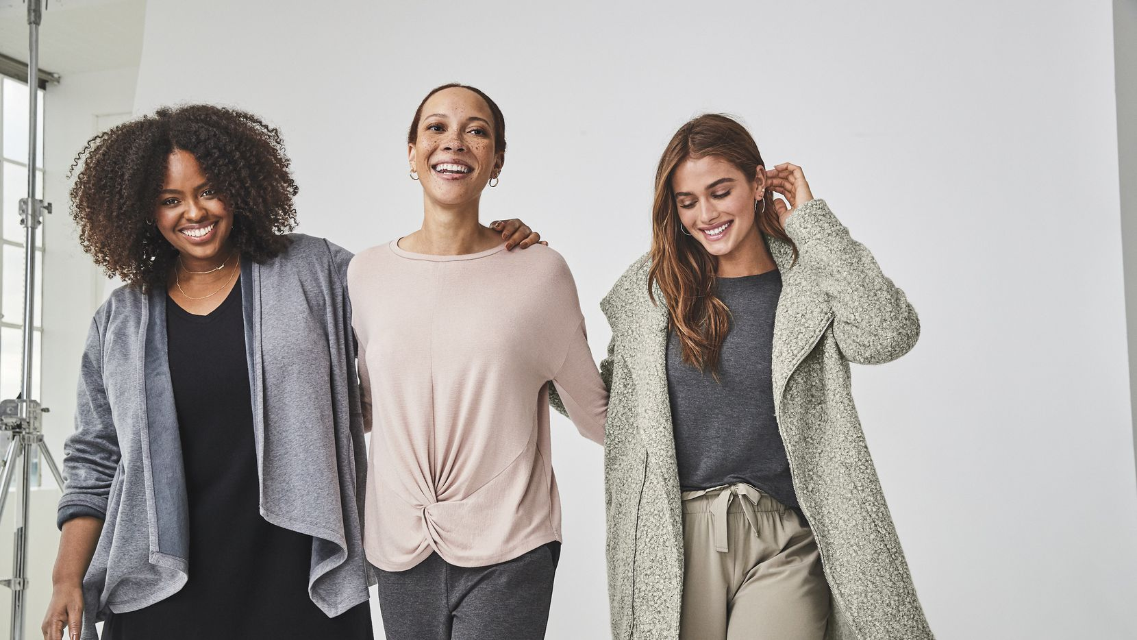 J.C. Penney launched a new women s clothing brand in November 2020 called Stylus. Penney has coined the mix and match pieces  styleisure.  The relaxed fit clothing has modern details including tapered legs, curved hems and twist-front tops. Sizes range from XS to 3X and pieces are priced from $26 to $89.860 255