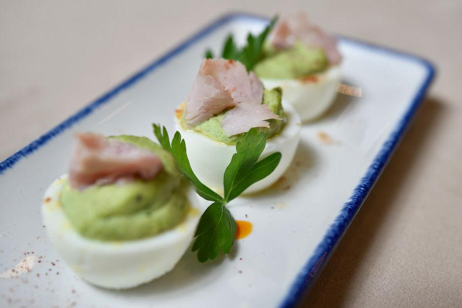 "Even though Ellie's will be a chic, modern dining room, chef Eric Dreyer says his menu will be ""food you could eat every day."" Green eggs and ham (made with parsley deviled eggs and country ham) are one of the items being considered for the menu."