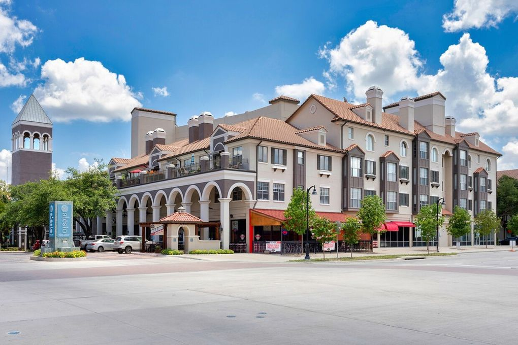 The Alesio apartments were built starting in the late 1980s in the Las Colinas Urban Center.