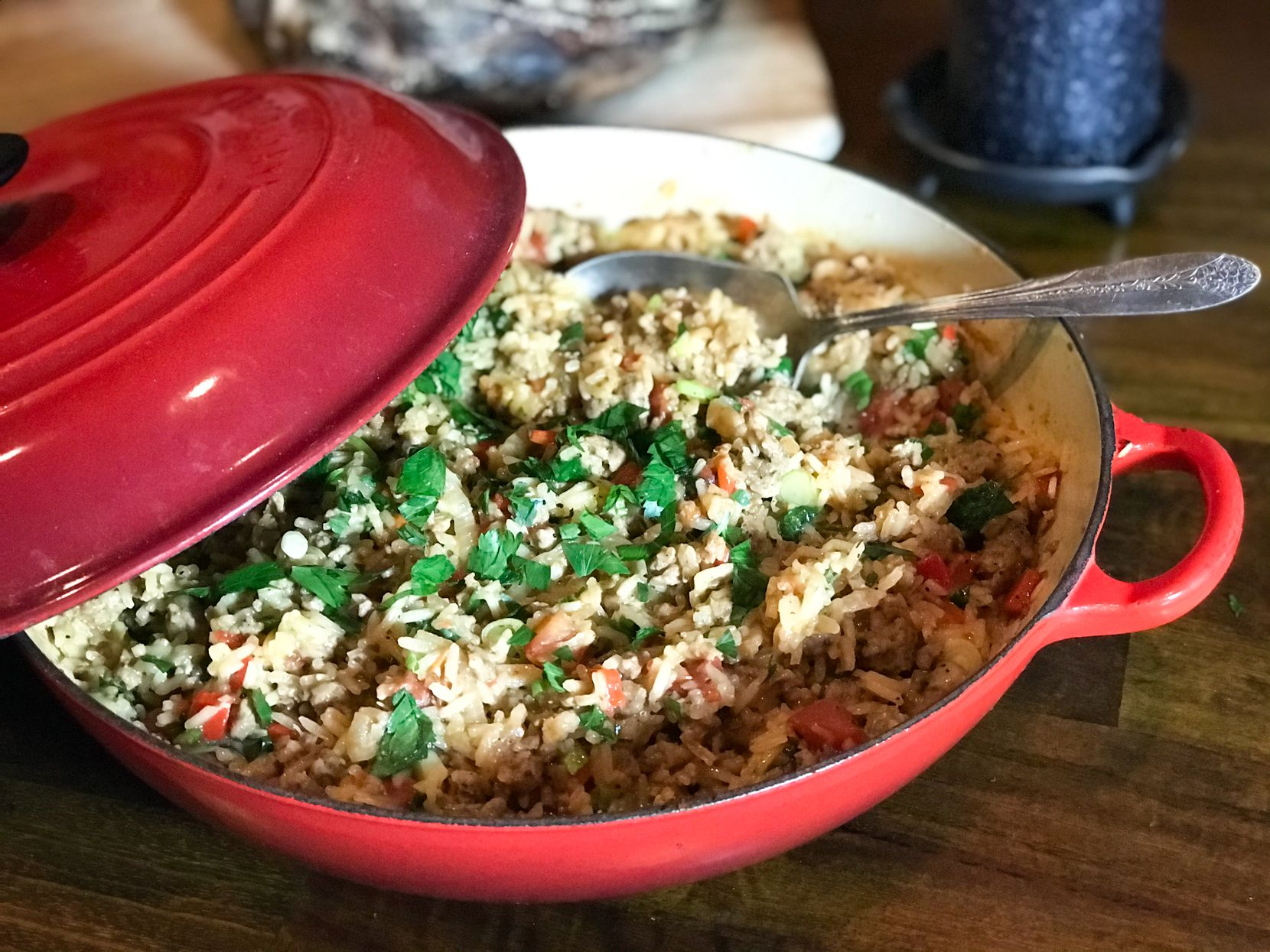 One-Skillet Sausage Rice