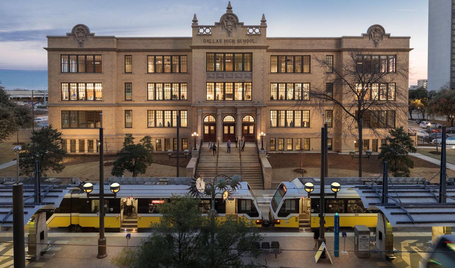 The more than century old Dallas High School was converted to offices.