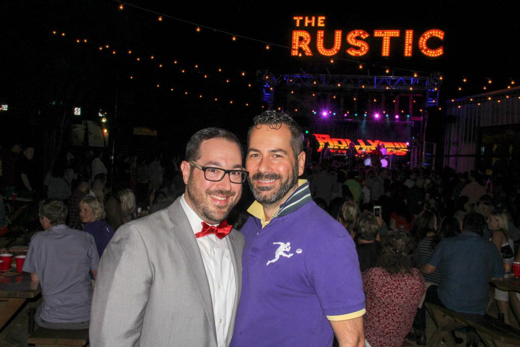 Stuart Boslow and Chad Rogers attended the #TBT to the '80s party on Thursday at the Rustic.