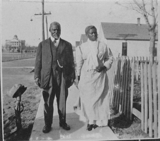 Quakertown residents Joe and Alice Skinner were photographed shortly after their wedding in 1913. Joe Skinner ran a shoe store in the neighborhood and repaired toys.