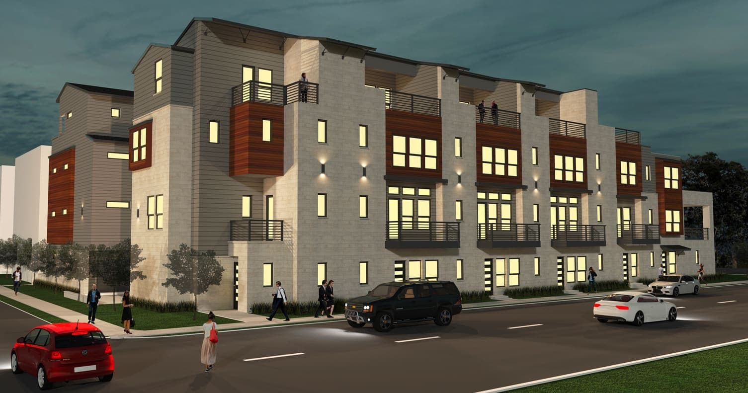 EcoView Homes has built several projects in East Dallas, including this urban-style housing complex near Live Oak Street.