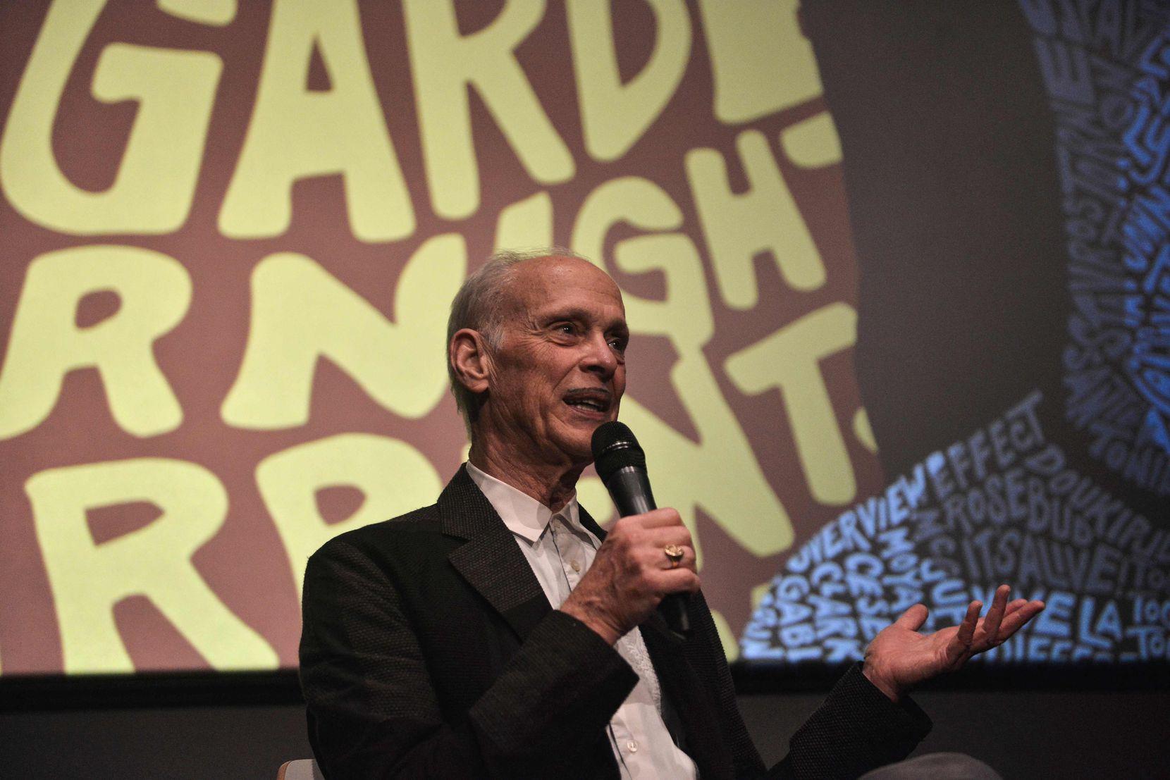 John Waters speaks during a masterclass as part of the 60th Thessaloniki International Film Festival (TIFF) in Thessaloniki, Greece, on Nov. 7, 2019.